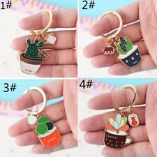 Succulent Plant Cactus New Cute Key Ring Handbag Pendant Key Holder Key Chain