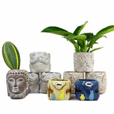 Animal Cement Flowerpot Silicone Mold Craft Frog Head Owl Concrete Planter Mould