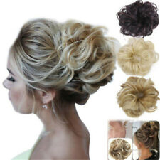 Hot Sale Women Baby Girls Real as Human Natural Curly Messy Bun Hair Piece
