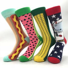 Cartoon Pattern Colorful Novelty Cotton Middle Socks Funny Cute Crew Socks