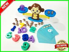 Monkey/Puppy Balance Scale Game Toys Kids Gift Math Fun Learning Educational NEW