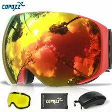Magnetic Ski Goggles with Quick-change Lens and Case Set 100% UV400
