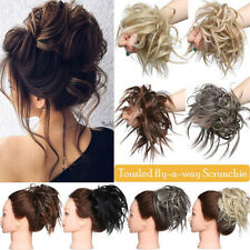 AU Curly Messy Bun Hair Piece Scrunchie Updo Cover Extensions Real as human Hair