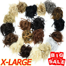 X-Large Thick Messy Bun Hair Scrunchie Updo Cover Hair Extensions as Human US
