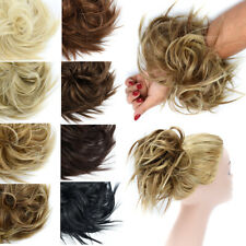 X-LARGE Messy Bun Hair Piece Scrunchie Updo Wrap Hair Extensions as Human Curly