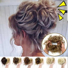 AAAA X-LARGE Messy Bun Hair Piece Scrunchie Updo Wrap Hair Extensions as Human