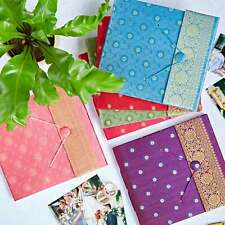 Fair Trade Handmade Large Sari Photo Albums, Eco Friendly Recycled Paper