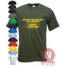 8th DAY GOD CREATED LAND ROVER 4WD off road T-shirt