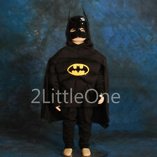 Batman Muscle Superhero Costume Outfits Set Kid Boy Fancy Party Size 3T-8 FC004B