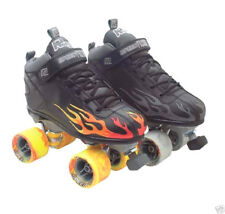 Rock Flame w/Tri-color or Gray Flames Roller Skate 1-13