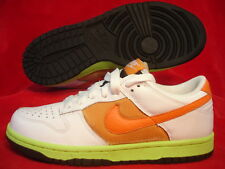 WMNS NIKE DUNK LOW WHITE GREEN ORANGE BASKETBALL SHOES