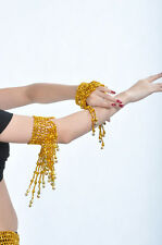 1 Pair Belly Dance Arm Bracelet wt elastic New gold