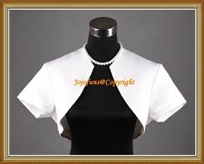 IVORY SATIN WEDDING/PROM SHRUG BOLERO/CAPELET/JACKET