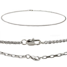 "Mens Stainless Steel Necklace 20"" Box or Spiga Chain"