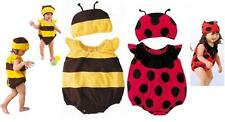 BABY BUMBLE BEE LADYBIRD FANCY DRESS +HAT COSTUME 3-12M