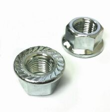 Pair of bike wheel axle nuts various sizes available