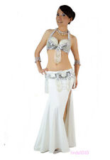 New Belly Dance Costume 2 Pics Bra&Belt 34B/C 36B/C 38B/C 11 Colors