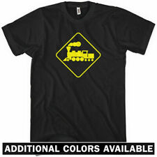Train Crossing T-shirt - Locomotive Railroad New XS-4XL