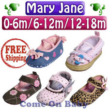 New Infant Baby Girls Toddler Mary Jane Shoes US 2 3 4