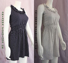 NEW LADIES WOMEN STYLISH SEXY SUMMER MINI POLKA DOT RUFFLE DRESS