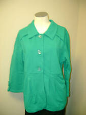 Motto 3/4 Sleeve Knit Jacket w/Pleating & Button