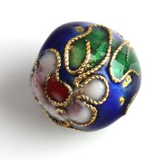 20 Multicolor Round Chinese Cloisonne Spacer Bead 12mm