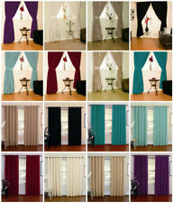Verona Faux Silk Designer Lined Curtains In 8 Colours