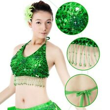 SFF02# 5 Flowers Belly Dance Bead Sequins Top Bra 11 Colors