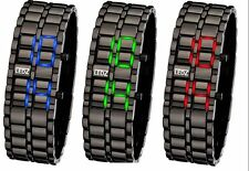 LEDZ led Black Chrome Lava Watch -Red Blue or GREEN LED