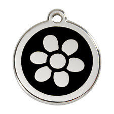 Red Dingo Dog Cat Pet ID Tag ~ (FLOWER)