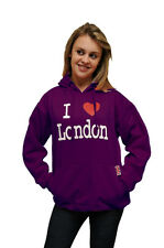 I LOVE LONDON HOODIE PURPLE NY Paris HOODED SWEATSHIRT