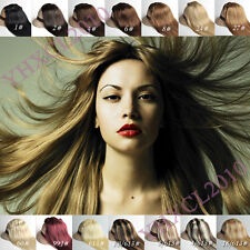 New 22 inch 55cm clip in on real human hair extensions 80g 100g 120g full set