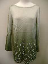 Jones New York Collection Ombre Beaded Tunic NWT