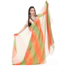 Colourful Belly Dance Silklike Veil Shawl Scarf 18 Colours