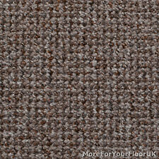 Cheap Hardwearing Beige & Ginger Fleck Looped Carpet, Bedroom Lounge Quality