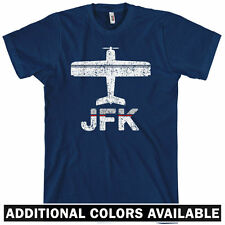 FLY JFK T-shirt - New York City NYC Queens Airport Airplane NEW - XS-4XL