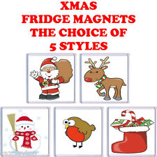 FUN CHRISTMAS FRIDGE MAGNETS CHOICE OF 5 STYLES