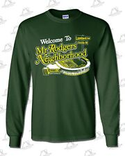 Mr Rodgers Neighborhood LONG-T: Forest Green, Aaron Rodgers, Green Bay Packers