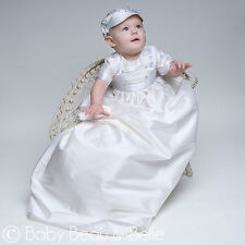 "Baby Beau & Belle ""Tim"" Boys Silk Heirloom Christening, Baptism Gown"