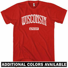 WISCONSIN REPRESENT T-shirt - Milwaukee Madison Badgers Packers Green Bay XS-4XL