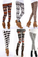 Knitted Colorful Snow /Sexy Leopard / Xmas Deer Leggings Tights Pants