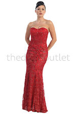 Vintage Lace Old Hollywood Fitted Formal Dress Plus Size Wedding Gown Elegant