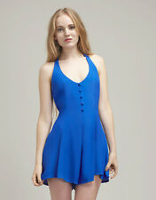 NEW MOTEL HALTERNECK GYPSY PLAYSUIT IN SAPPHIRE