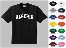 Country of Algeria College Letters T-shirt