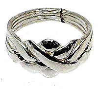 PUZZLE RING 4-Band CLASSIC Sterling Silver