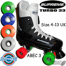 SUPREME TURBO 33 Quad Pattini A Rotelle KRYPTO Impulse 62mm Scelta di Colori DISCO!