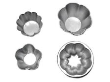 5 pcs Aluminum Cake Pudding Jello Chocolate Small Baking Mold Cup Silver JW