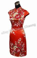 Vintage Chinese Women Floral Pattern Mini Cheongsam Evening Dress/Qipao