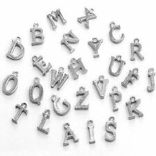 10 pieces 12mm Alphabet Letter Alloy Charm Pendants - Variety of Alphabet