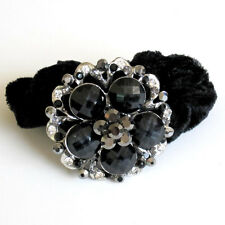 Flower Rhinestone Marble Ponytail Holder Color Hair Band PT06